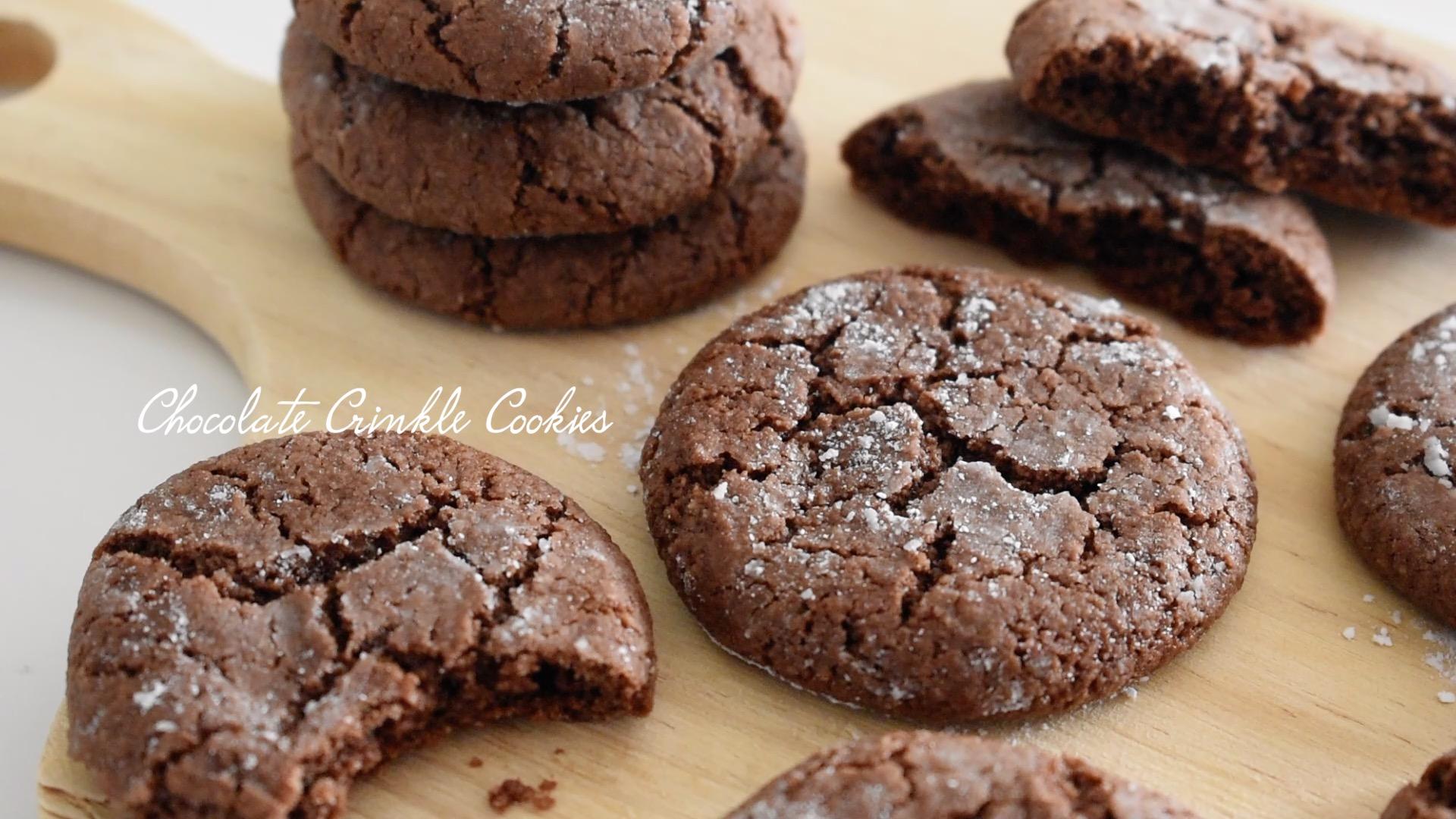 【チョコなし】チョコレートクリンクルクッキー【小麦粉・卵・乳製品不使用】