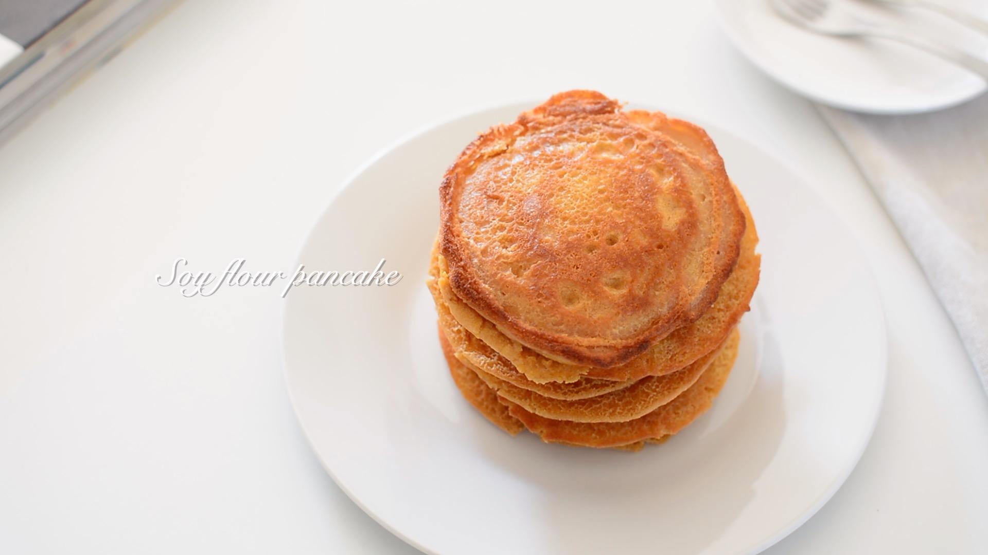 大豆粉で♪カリふわパンケーキ