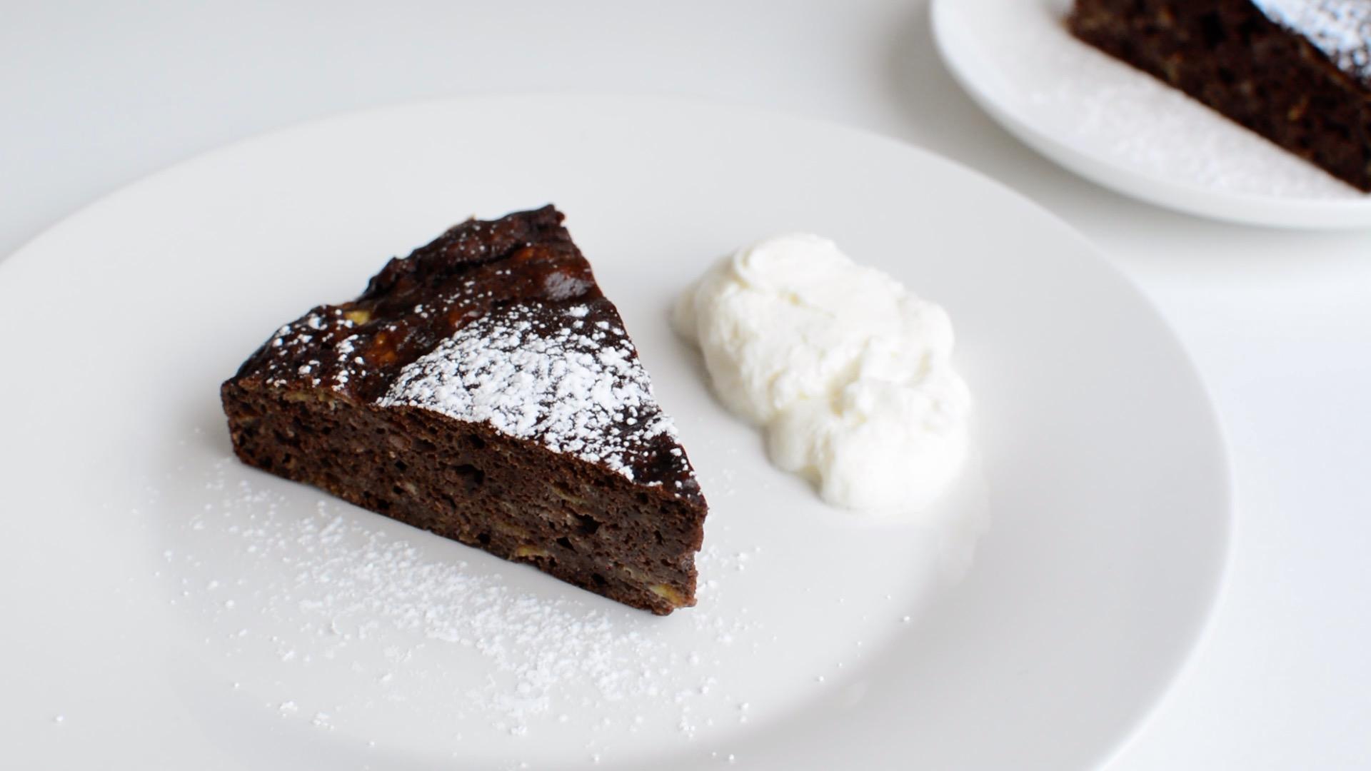 おからとバナナのチョコレートケーキ